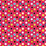 Geometric seamless pattern background polka dots vector illustration