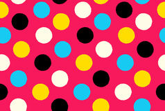 Geometric seamless pattern background polka dots Royalty Free Stock Photography