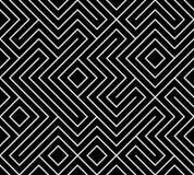 Geometric seamless pattern background. Simple graphic print. Vector repeating line texture. Modern swatch. Minimalistic shapes. Stylish monochrome trellis stock illustration