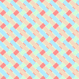 Geometric seamless pattern background with weave style. Royalty Free Stock Images