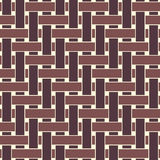 Geometric seamless pattern background with weave style. Stock Image
