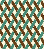 Geometric seamless pattern background with weave style. Stock Images