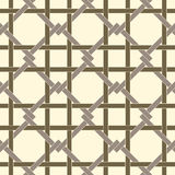 Geometric seamless pattern background with weave style. Royalty Free Stock Photo