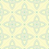 Geometric seamless pattern. Beige background with blue and green elements. For wallpapers, textile and fabrics Stock Photography