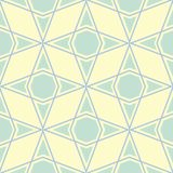 Geometric seamless pattern. Beige background with blue and green elements. For wallpapers, textile and fabrics Stock Photos