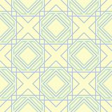 Geometric seamless pattern. Beige background with blue and green elements. For wallpapers, textile and fabrics Royalty Free Stock Images