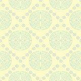 Geometric seamless pattern. Beige background with blue and green elements. For wallpapers, textile and fabrics Stock Image