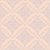 Geometric seamless pattern. Beige background with violet and blue elements. For wallpapers, textile and fabrics Stock Photography