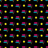 Geometric seamless pattern on a black background. Vector eps 10 Vector Illustration
