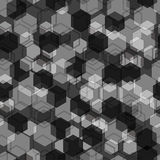 Geometric seamless pattern. Black and grey. Stock Images