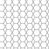 Geometric seamless pattern with black hexagon. Vector illustration stock illustration