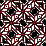 Geometric seamless pattern. Black red white background. For wallpapers, textile and fabrics Stock Photo