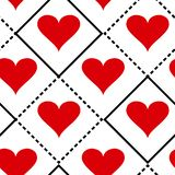 Geometric seamless pattern with hearts. Vector illustration stock illustration