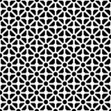 Geometric seamless pattern in black and white stock illustration