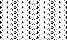 Geometric seamless pattern ,Black and white Royalty Free Stock Photography