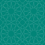 Geometric Seamless Pattern blue Stock Photos