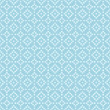 Geometric seamless pattern. Blue abstract background with square shape elements and dotted lines. Vector illustration royalty free illustration