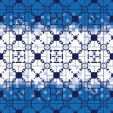 Geometric seamless pattern. On blue gradient background Stock Photography