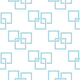 Geometric seamless pattern. Blue and white abstract background with square elements. Vector illustration Stock Images