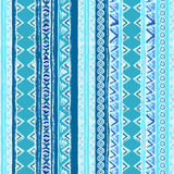 Geometric seamless pattern. Blue and white colors. Royalty Free Stock Photo