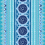 Geometric seamless pattern. Blue and white colors. Royalty Free Stock Photography