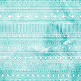 Geometric seamless pattern. Blue and white colors. Watercolor te Stock Image