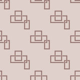 Geometric seamless pattern. Brown abstract background with square elements. Vector illustration Stock Images