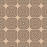 Geometric seamless pattern. Brown abstract background with square shape elements Royalty Free Stock Images