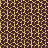 Geometric Seamless Pattern. Seamless brown and golden ornament. Modern geometric pattern with repeating elements Royalty Free Stock Image