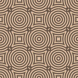Geometric seamless pattern with circle elements. Brown textile or wallpaper background Stock Images