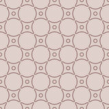 Geometric seamless pattern with circle elements. Brown textile or wallpaper background Stock Photos