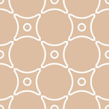 Geometric seamless pattern with circle elements. Brown textile or wallpaper background Royalty Free Stock Photo