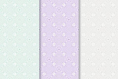 Geometric seamless pattern with circle elements. Collection of textile or wallpaper background Stock Photos