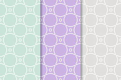 Geometric seamless pattern with circle elements. Collection of textile or wallpaper background Stock Images
