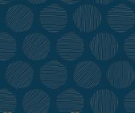 Geometric seamless pattern with circles, stripes, dots. stock illustration