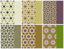 Geometric seamless pattern and color set. (Gold, green, violet Stock Photo