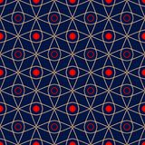 Geometric seamless pattern. Colored red and blue background. For wallpapers, textile and fabrics Stock Photos
