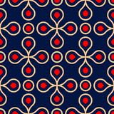 Geometric seamless pattern. Colored red and blue background. For wallpapers, textile and fabrics Royalty Free Stock Photography