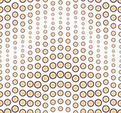 Geometric seamless pattern. Colored round shape elements, located on a white background. Stock Photos