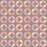 Geometric seamless pattern with colorful circles in retro design Royalty Free Stock Photos