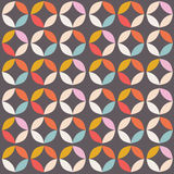 Geometric seamless pattern with colorful circles in retro design Stock Photography