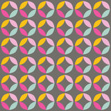 Geometric seamless pattern with colorful circles in retro design Royalty Free Stock Photo