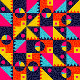 Geometric seamless pattern with colorful shapes Stock Image