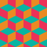 Geometric seamless pattern with colorful squares in retro design Royalty Free Stock Photography