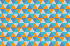Geometric seamless pattern. Colorful triangle pattern. Trendy beauty simple many triangle seamless pattern Stock Photography