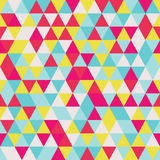 Geometric seamless pattern with colorful triangles in retro desi Stock Photography
