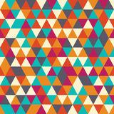 Geometric seamless pattern with colorful triangles in retro desi Royalty Free Stock Photos