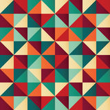 Geometric seamless pattern with colorful triangles in retro desi Stock Photos