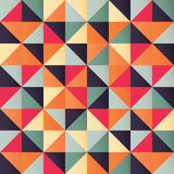 Geometric seamless pattern with colorful triangles in retro design Royalty Free Stock Image