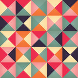 Geometric seamless pattern with colorful triangles in retro design Royalty Free Stock Photography